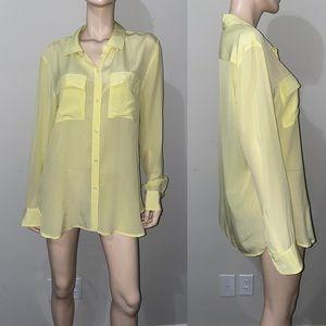 Victoria's Secret Silk Button down Dress Shirt m L